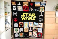 star wars crochet blanket by ahooka #crochet #StarWarsDay