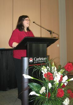 Carleton U's Conference Manager, Susan Maselin.  Lovely facility!