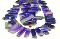 15.3 inches Purple Agate,Dagger gemstone,raw mineral drusy rock,Slabs Slices beads in 11-12mm wide X 22-45mm length
