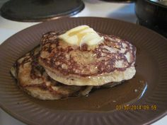 GOOP pancakes. With maple syrup and butter.
