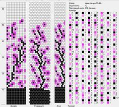 Wiring scheme of beads Peyote Stitch Patterns, Bead Crochet Patterns, Bead Crochet Rope, Beading Patterns, Beaded Crochet, Free Crochet, Beading Tutorials, Crochet Beaded Bracelets, Bead Loom Bracelets