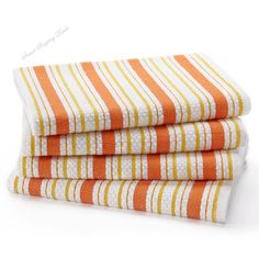 4 Pack Oversized Kitchen Towels with Hanging Loop Cotton Dish Towel 20 x 30 Inch #CottonCraft