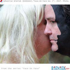 "Sebastian Bieniek (1EN1EK), ""Face On Face No. 2"", 2017. Photography. From the series ""Face On Face"". New website ➔ www.B1EN1EK.com  More ➔ https://www.b1en1ek.com/works/face-paint/2016-face-on-face/  #SebastianBieniek #Bieniek #B1EN1EK #FaceOnFace #FaceOnFace2 #FaceOnFaceNo2 #BieniekFaceOnFace #OriginalFaceOnFace #Doublefaced #DeeBeeSmith"