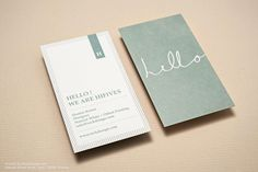 Monogram cool business stationary visiting card design | RockDesign Luxury Business Card Printing
