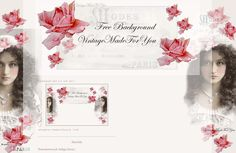 VintageMadeForYou: Free background to Blogger 2 and 3 columns; Once upon a time