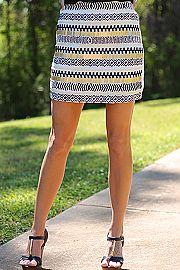 Love Beads Skirt, Black/White  Mint Julep Boutique