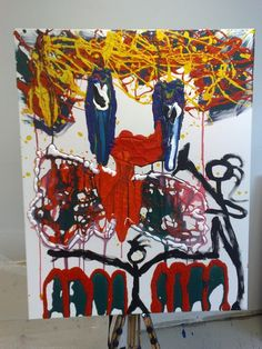www.walchimismus.com Stick Figures, Concept, Red, Painting, Red Color, Pictures, Painting Art, Paintings, Paint