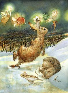 Omar Rayyan. Illustrations ~ Blog of an Art Admirer.  I <3 the little mouse.