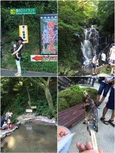 糸島にある白糸の滝に遊びに行きました 滝でマイナスイオンをたっぷり浴びて水遊びした後はヤマメ釣り娘の杏美も大喜び(_)  釣ったヤマメを塩焼きしてもらって美味しかった(   #レジャー  #癒し  #マイナスイオン  #滝  #ヤマメ  #塩焼き tags[福岡県]
