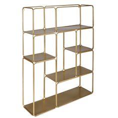 Regal aus goldfarbenem Metall ...