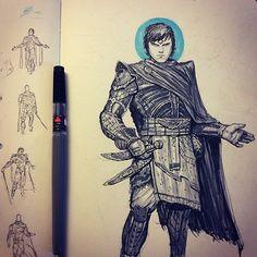 Paul Atreides, Muad'dib. Dune sci-fi concept artwork illustration by Tom Kraky.