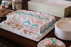 baby shower ideas on pinterest rainbow chevron chevron cakes and
