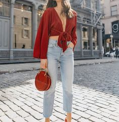 red on red on denim