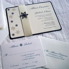 Winter Theme Wedding Invitations #3