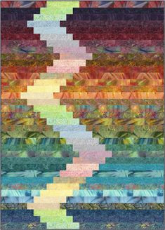Jelly Roll Quilts, part 1 of 2 (Quilt Inspiration) Strip Quilt Patterns, Bargello Quilt Patterns, Bargello Quilts, Jelly Roll Quilt Patterns, Batik Quilts, Jellyroll Quilts, Easy Quilts, Scrappy Quilts, Quilt Modernen