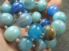 Into the Fire Lampwork Art Beads ~Rive del Mare~ Artist handmade glass beads SRA