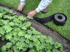 Houdt borderranden strak en grind en gras gescheiden. Minder strak dan de stalen kanten, maar veel goedkoper. Zeer eenvoudig te plaatsen afboording.