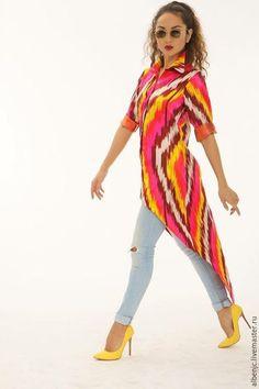 """Платья ручной работы. Ярмарка Мастеров - ручная работа. Купить платье """"Солнечный восток"""". Handmade. Разноцветный, платье летнее, икат"""