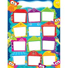 - Lively owls help celebrate birthdays each month. Back of chart features reproducible activities, subject information, and helpful tips. x classroom size. Sturdy and durable.Ideal for teaching:Pre-Kindergarten to GradeAges 3 to 9 Owl Classroom Decor, Stars Classroom, Classroom Posters, Classroom Displays, Classroom Themes, Classroom Organization, Happy Birthday Owl, Creative Writing For Kids, Teaching Supplies