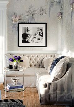 Tufted glamourous sectional | La Maison Gray - Interiors