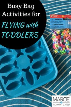Nervous about traveling with a preschooler by plane, train or car? Here are my go-to busy bag kid activities for family travel for 3-year-olds, 4-year-olds and 5-year-olds. Click to read more or pin to save for later. www.marcieinmommyland.com #flying #familytravel #flyingwithkids