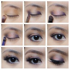 Wearable halo smoky eyes with purple and peach eyeshadow using Smashbox Double Exposure palette - Kirei Makeup