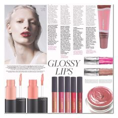 """""""Ultra Glossy Lips"""" by emerald-writer-girl ❤ liked on Polyvore featuring beauty, Nobis, MAC Cosmetics, Mineral Fusion, Lipstick Queen, Urban Decay, Pink, Beauty, red and lipgloss"""