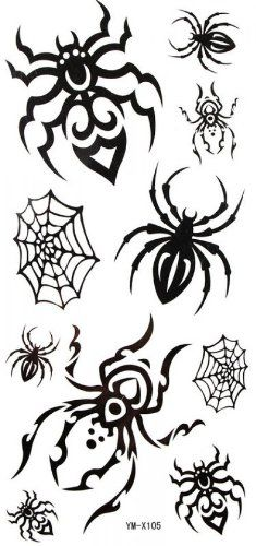 Watertight black tattoo stickers spider web spider *** Check out the image by visiting the link.