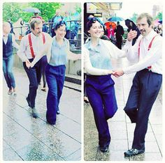 Social dancing & performing at a rainy Night of Arts. New classes begin in September #ritzlindyhoppers