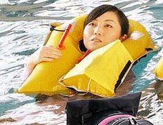 japanese life jacket (Enterprise NCC-1701-E) Tags: life asian women jacket inflatable vest float lifejacket lifevest flotation