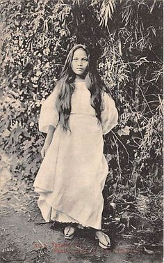 Early Tagalog Girl. Luzon Island, Philippines.