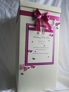Personalised Wedding Post Box, Any colours. in Card Boxes | eBay