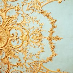 Beautiful gold plasterwork in the palace of Marie Antoinette    I want my house to look like Versailles!!!