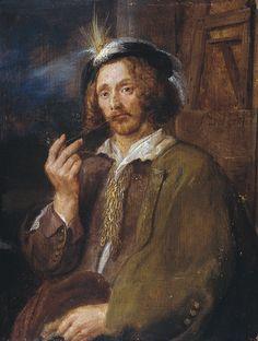 Circle of Adriaen Brouwer. - Portrait of Jan Davidsz. de Heem. 1630s.