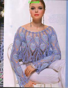 Crochet Sweater: Crochet Bolero Pattern - Gorgeous Lace Bolero - Original - Diagrams at site Crochet Shirt, Crochet Jacket, Knit Crochet, Crochet Sweaters, Crochet Tops, Crochet Shrugs, Crocheted Lace, Free Crochet, Crochet Bolero Pattern
