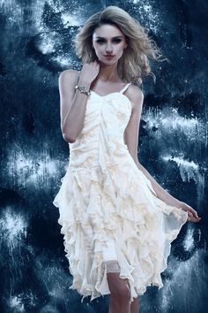 Laces & Ruffled Short Dasha's Cocktail Evening Dress Elegant Evening Dresses- ericdress.com 10169455 #dress #dresses #fashion