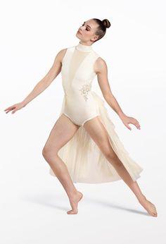 Weissman® Lyrical Costumes, Dance Leotards, Recital, Elegant Dresses, Ruffles, Polyester Spandex, Perfect Fit, Tulle, Velvet