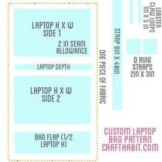 Free and Simple Laptop Sleeve Sewing Pattern
