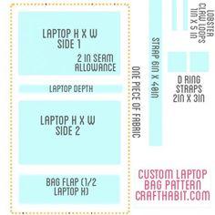 Custom Laptop Bag Pattern