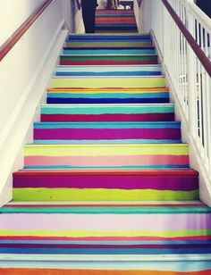 bright painted stairs