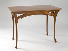 Henri Sauvage Art Nouveau Table | From a unique collection of antique and modern console tables at https://www.1stdibs.com/furniture/tables/console-tables/