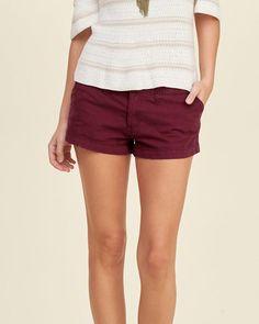 Low rise chino short shorts-I wish