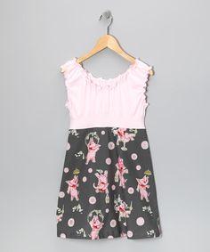 Pink Elephant Dress by Frances Elizabeth Originals