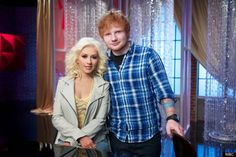 christina aguilera ed sheeran the voice