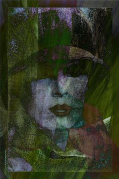 Neu in meiner Galerie bei OhMyPrints:  Frauengesicht abstrakt - Der Fr�hling naht
