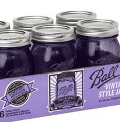 These new vintage mason jars are purple! So fun. Great for some DIY or canning projects. click image for info on where to buy