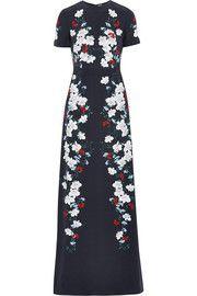 ErdemSamira floral-print silk-crepe gown