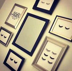 Reutiliza tus pestañas postizas para decorar tu casa