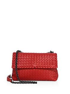 Bottega Veneta Olimpia Small Intrecciato Leather Shoulder Bag