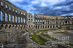 Pula Arena, Croatia   http://fineartamerica.com/featured/3-pula-arena-croatia-photos-by-zulma.html?newartwork=true  #Pula #Croatia #Zulma #Arena #amphitheater #Roman